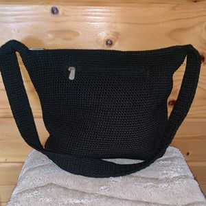 The Sak Crochet Bag Handbag Black